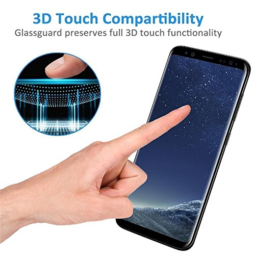 LEDitBe Samsung Galaxy S8 Screen Protector Privacy Anti-Spy,[3D Curved][Easy to Install][Anti-Scratch][No Bubble][9H Hardness] Privacy Anti-Peep Tempered Glass Screen Protector for Galaxy S8 by LEDitBe (Image #4)