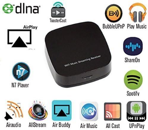 ansmart WiFi Receptor de música audio/streaming para altavoces de coche, smartphone, tabletas – Soporte para DLNA Airplay Streaming Lossless HiFi ...