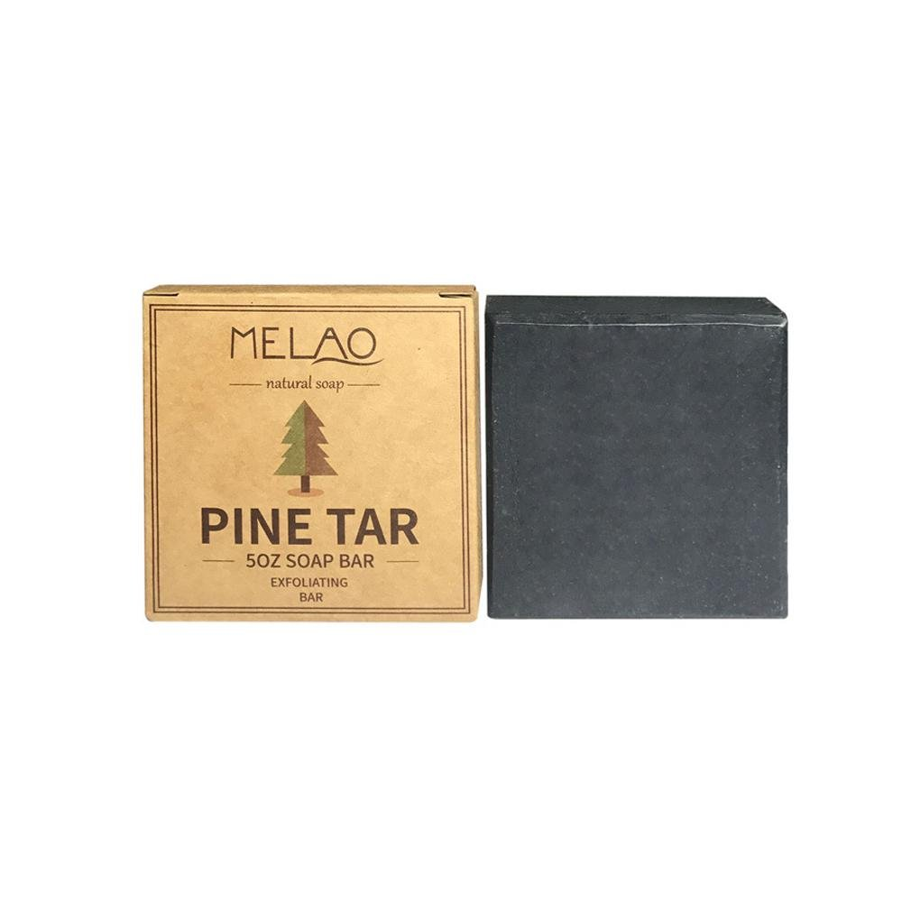 Acne Soap Bar, Leegoal Pine Tar Soap Acne Removal Anti Dandruff Exfoliating Soap, Natural Handmade Control Oil Soap ( 5oz )