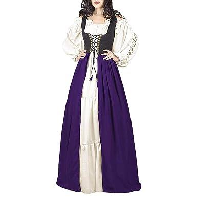 Mujer Vintage Vestido Largos Gótico Steampunk Vestido de Princesa ...