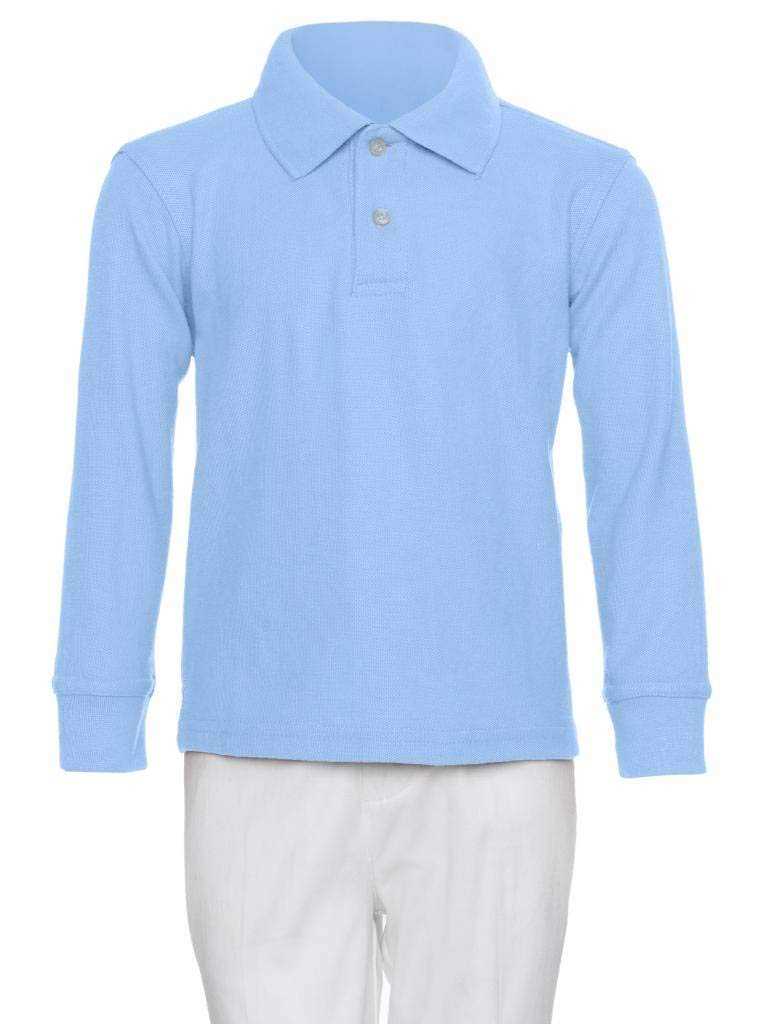 AKA Boys Long Sleeve Pique Polo Shirt