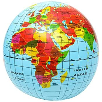 Inflatable Globe World Map. Inflatable Globe Fun Kids Learning And Education  Pack Of 6 Amazon com INFLATABLE BLOW UP WORLD GLOBE ATLAS MAP EARTH