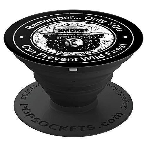 (Smokey Bear Only You can Prevent etc - Seal - PopSockets Grip and Stand for Phones and Tablets)