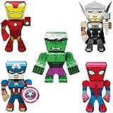 Fascinations Metal Earth Marvel Legends 3D Metal Model Kits Set of 5 Iron Man - Spider-Man - Captain America - Thor - Hulk