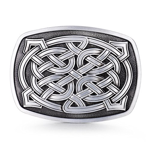 MASOP Rectangle Original Irish Celtic Knot Gentleman Belt Buckle Men Keltic