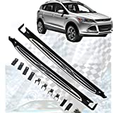 ANTS PART for 13-16 Ford Escape Running Board Pair Set Chrome Trim Nerf Bar Side Set