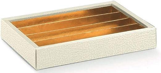 Subitodisponibile 10 Piezas Caja Pastelería con Inserto Separador Color Dorado para Tartas Galletas Piel Blanca: Amazon.es: Hogar