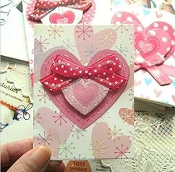 Amazon stereoscopic two layers heart shaped greeting cards set stereoscopic two layers heart shaped greeting cards set of 20 cards m4hsunfo