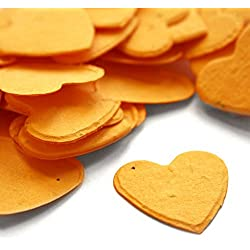 Heart Shaped Plantable Seed Confetti (Marigold Yellow) - 350 pieces/bag
