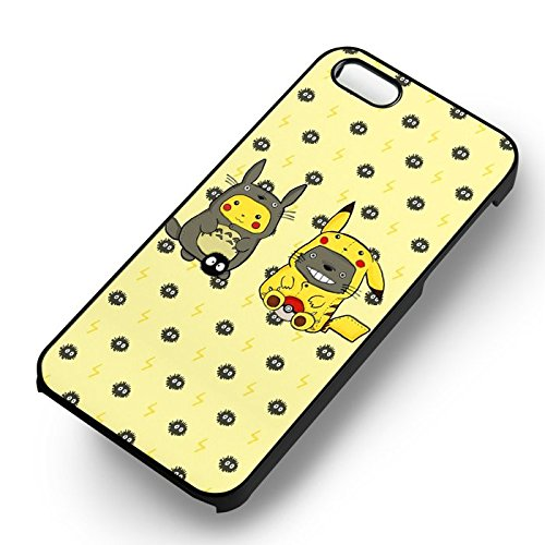 Unique Cute Pokemon Onesies pour Coque Iphone 5 or Coque Iphone 5S or Coque Iphone 5SE Case (Noir Boîtier en plastique dur) U5J5UT