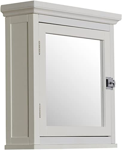 Sumter 18.25 x 18.5 Surface Mount Medicine Cabinet, Traditional Style White
