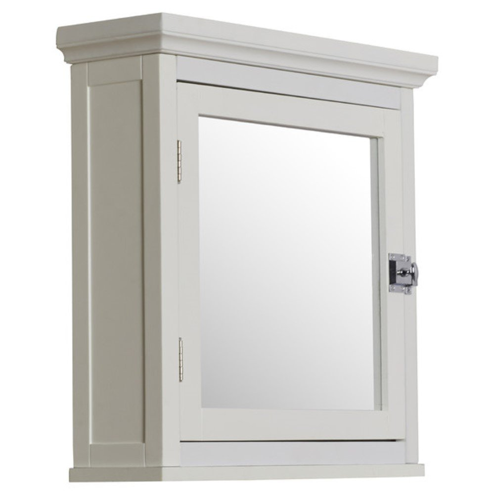 Sumter 18.25'' x 18.5'' Surface Mount Medicine Cabinet, Traditional Style (White)