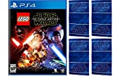 Playstation 4 - LEGO Star Wars: The Force Awakens With Exclusive Topps LEGO Star Wars Galactic Connexions Trading Disc Inside (Walmart Exclusive) plus set of 4 Star Wars Hand Towels