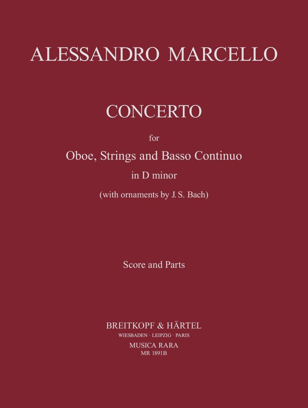 Concerto in d-Moll Hautbois-Ensemble de Partitions (Allemand) Partition – 1 janvier 2000 Marcello and Ticciat Breitkopf 000448486X MR1891B