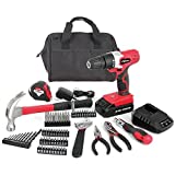 Hyper Tough AQ90044G 70-Piece 20-Volt Max Cordless Drill Project Kit