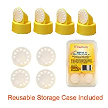 Maymom Replacement Valve and Membrane for Medela Breastpumps (Swing, Lactina, Pump in Style) Part #87089; Replaces Medela Valve and Medela Membrane; Also Fits/Replaces Spectra Valves/Membranes Used in Spectra Dew 350 Breastpump