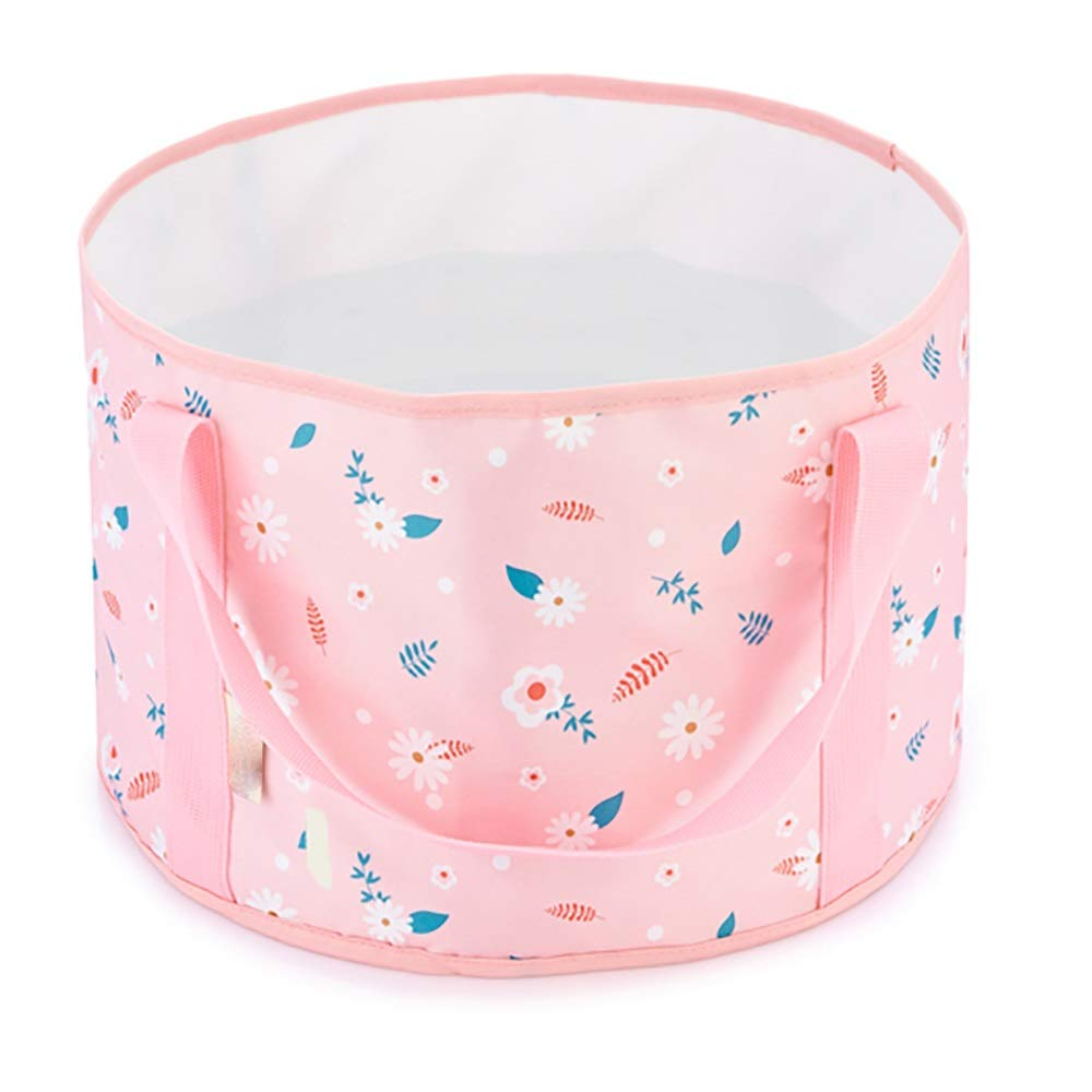 Qi Peng Outdoor Portable Collapsible Washbasin Washable Foot Bath Bucket Thick Wear-Resistant Bucket Outdoor Camping / 12L/15L -# (Capacity : 15L, Color : A)
