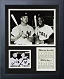 "Legends Never Die ""Mickey Mantle and Willie Mays"" Framed Photo Collage, 11 x 14-Inch"