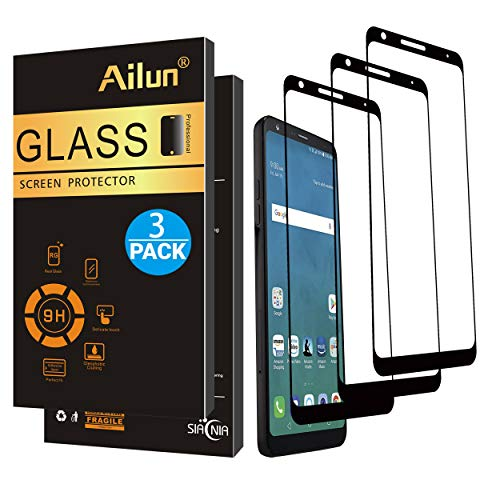 AILUN Screen Protector for LG Stylo 4 / LG Stylus 4 [3Pack],Full Coverage 2.5D Edge Tempered Glass for LG stylo 4,Anti-Scratch,