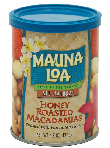 Mauna Loa Macadamias (Mauna Loa Macadamias, Honey Roasted, 4.5-Ounce Containers (Pack of 6))