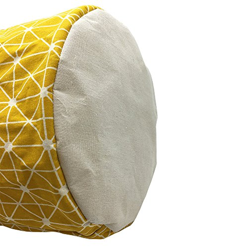 Mziart Collapsible Laundry Basket Hamper Cotton Fabric Nursery Toy Storage Basket for Bedroom Nursery Dorm Closet (Yellow Lattice) by Mziart (Image #5)