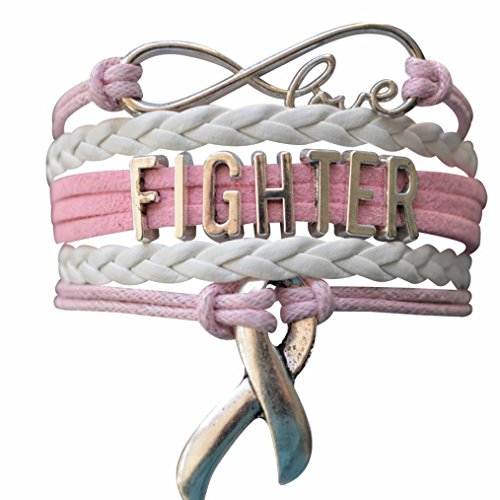 Infinity Collection Cancer Fighter Bracelet,Cancer Awareness, Pink Ribbon, Makes The