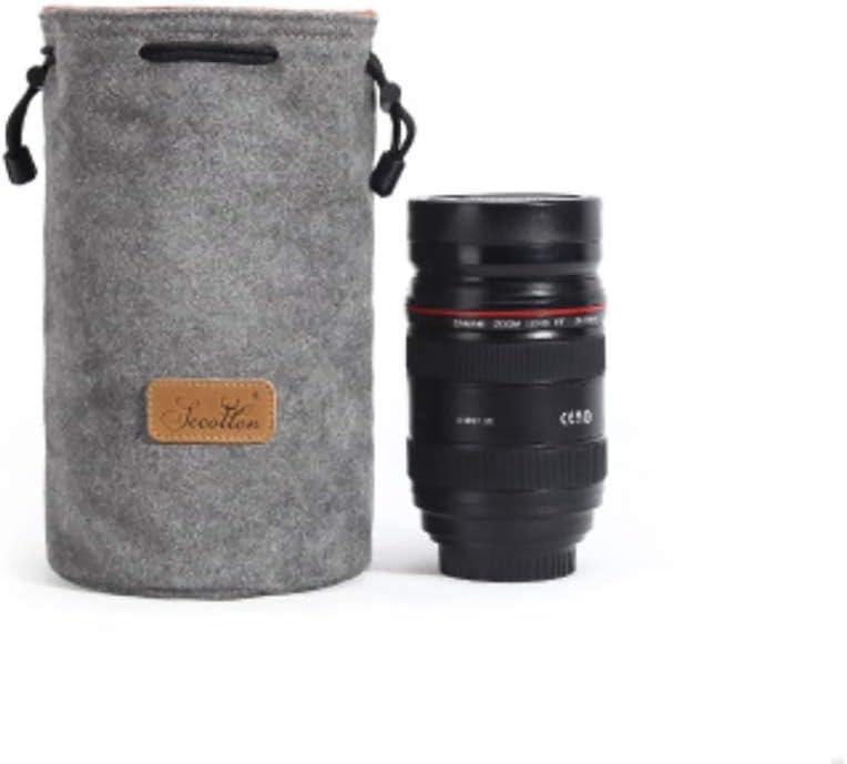 Binglinghua Camera Inner Bag DSLR SLR Lens Insert Bag Soft Lens Pouch-BLHTYC7011 S-Lens, Brown