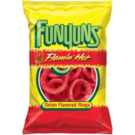 Flamin Hot Funyuns 6 Ounce (1 bag) (Funyuns Onion Flavored Rings)