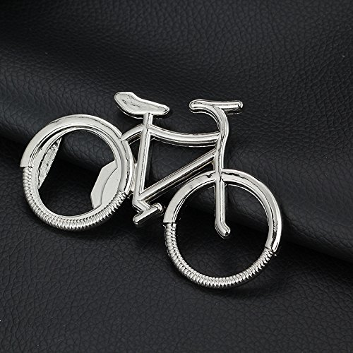Metal Beer Bottle Opener Cute Key Rings For Lover Wedding Anniversary Party Gift Bike Keychain ()