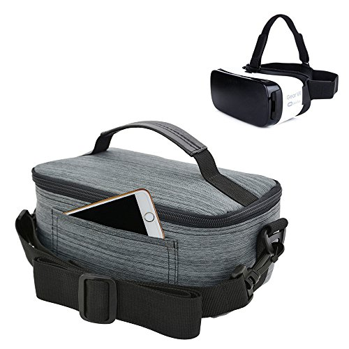Homeself Samsung Canvas VR Case For Samsung Gear VR,VR BOX/VR PRO/Riem 3 Virtual Reality Headset,and all other Brands VR Glasses 3D Glasses (Gray)