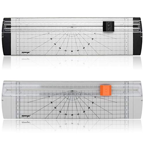 A4 Paper Cutter 12 Inch Titanium Paper Trimmer with Round Corner and Side Ruler for Craft Paper, Photo and Label (3 Packs, White and Black) Photo #5