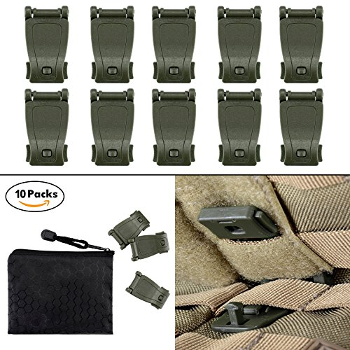 BOOSTEADY Multipurpose MOLLE Clip Tactical Strap Management Tool Web Dominator Buckle for Tactical Bag, Backpack (Connect Quick Strap)
