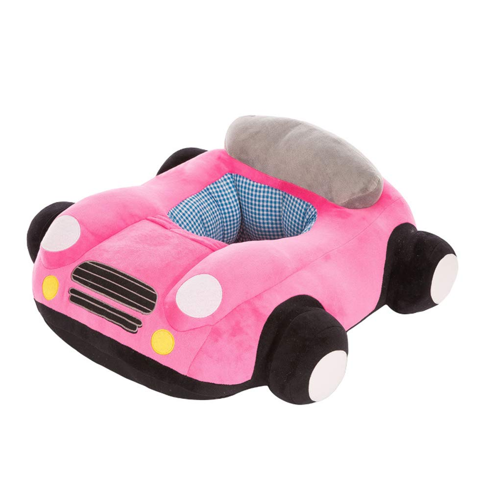 HugeHug Comfy Chair Play Sofa Seat BeanBag Plush Stuffed Toy Car Photo Props for Baby Infant Toddler 20'' (Pink)
