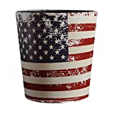 Blesiya Artificial Leather Bin Rubbish Retro Style Waste Container Dustbin Animal Feed Storage - Flag