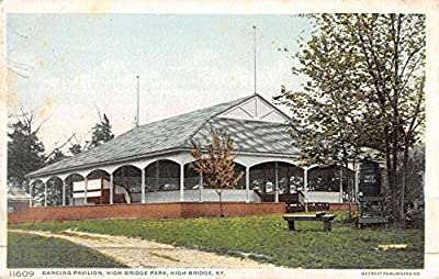 High Bridge Kentucky Park Dancing Pavilion Antique Postcard K46436