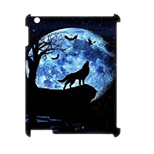 Customized Durable Case for Ipad 2,3,4 3D, Wolf and Moon Phone Case - HL-R663629