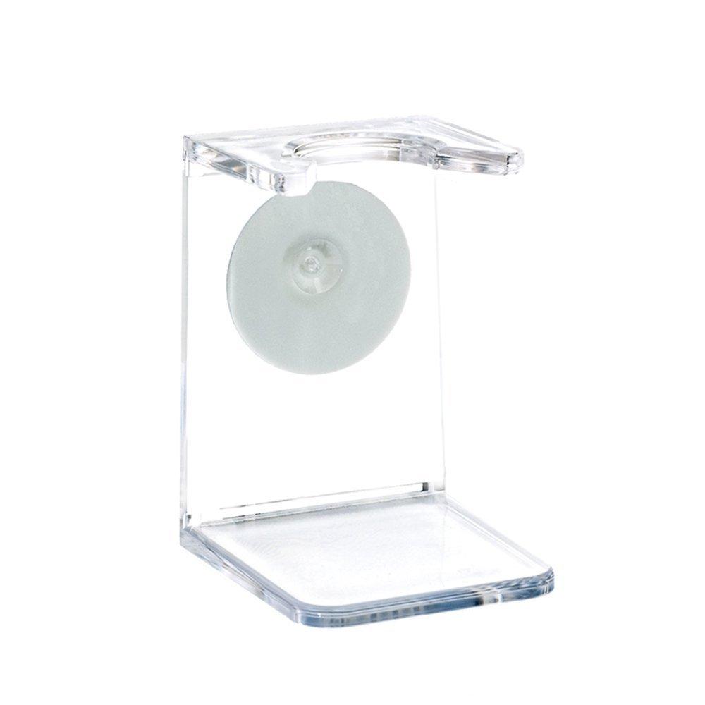 Mühle–Soporte para brocha de afeitar,de Plástico transparente, con ventosa MÜHLE