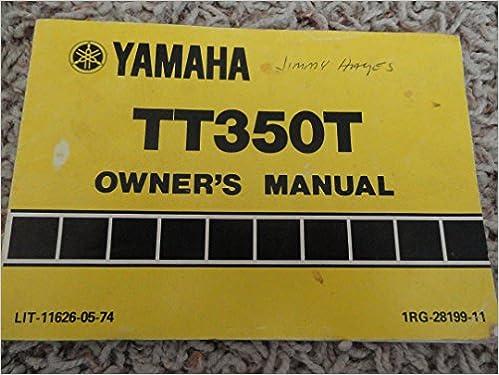 yamaha tt 350 manual