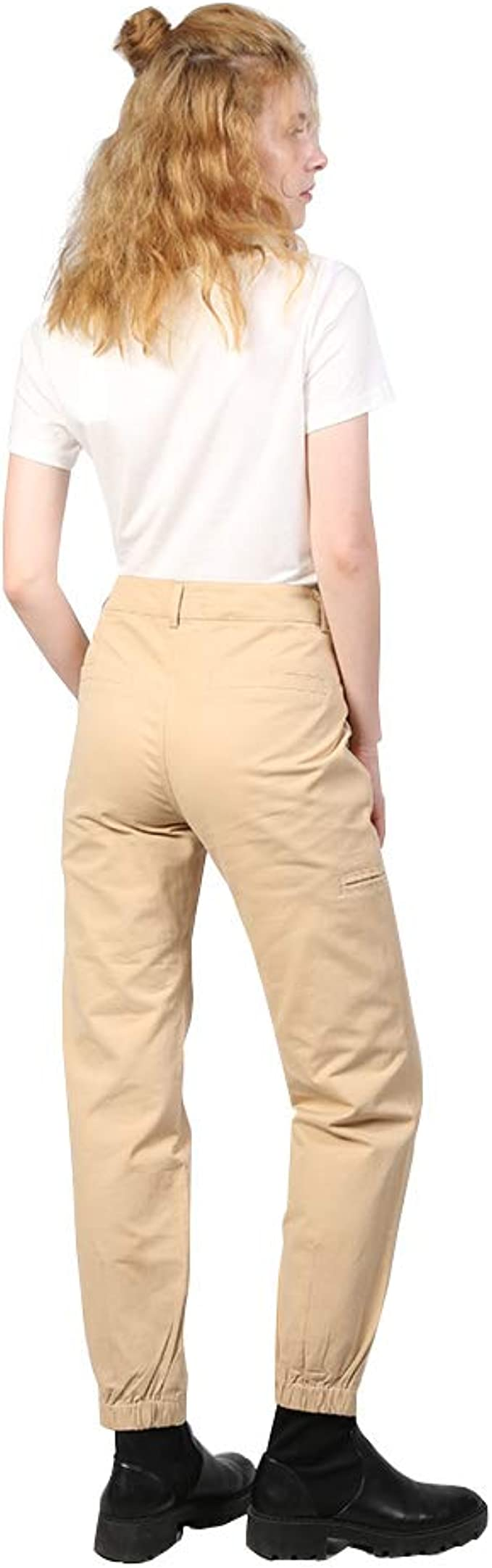 MEXUER Womens Khaki Cargo Pants Casual Outdoor Jogger Trousers Workout Pants with Pockets