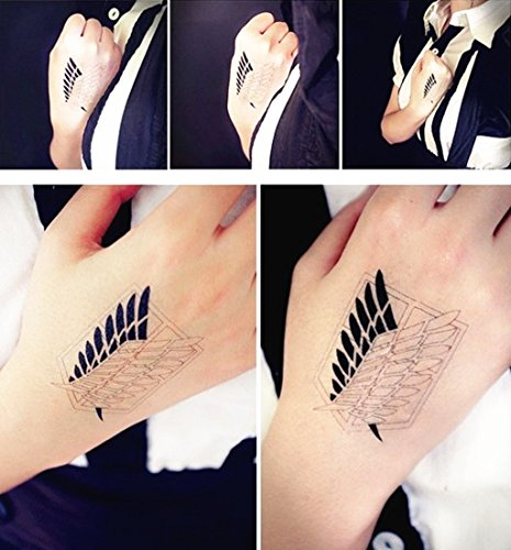 Attack on Titan Cosplay Temporary Waterproof Tattoo Sticker C#