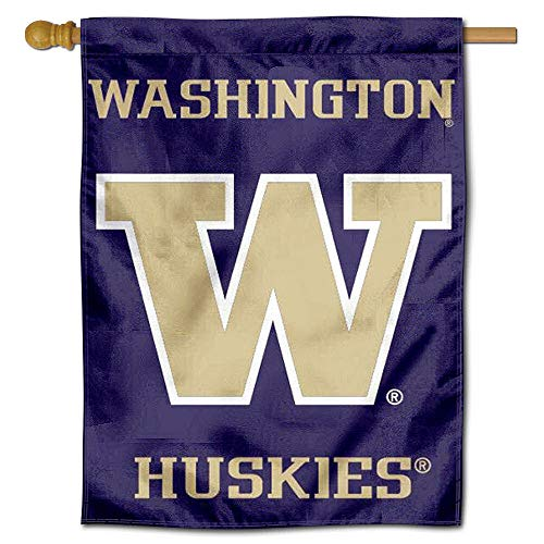 (College Flags and Banners Co. Washington UW Huskies Double Sided House Flag)