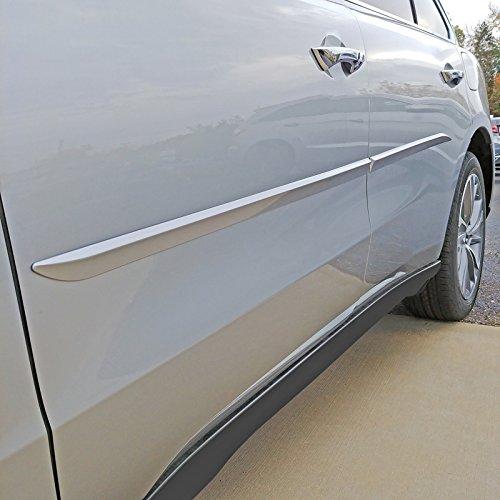 (Dawn Enterprises FE7-MDX16 Custom Body Side Molding Compatible with Acura MDX - WHITE DIAMOND PEARL TRI-COAT (NH-603P) )