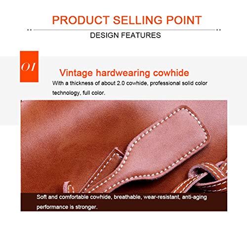 Semplice Shopping Brown Borsa Pratica Donna E A Pelle Tracolla In Da Bovina nB8q7w68Tx
