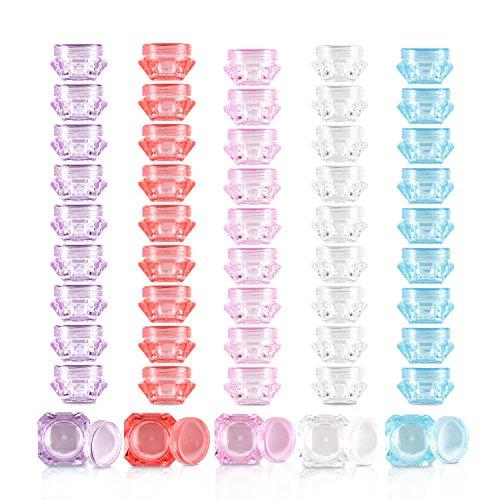 Cosmetic Sample Container, Teenitor 5 Gram Empty Plastic Cos