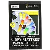 """Jack Richeson Matters Disposable Paper Palette(30 Sheets), 6"""" x 9"""", Grey"""