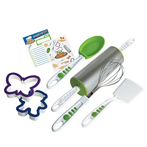 Real Kitchen Tools and Cookbook for Kids - Curious Chef 6-Piece Cookie Kit