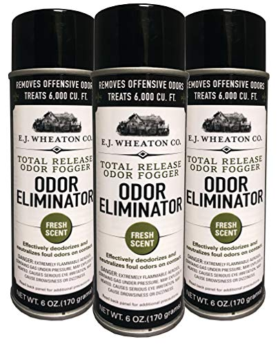 Odor Fogger - E.J. Wheaton Co. Odor Eliminator, Total Release Odor Fogger, 3 Pack, Effectively Deodorizes and Neutralizes Foul Odors on Contact, Fresh Scent (6 OZ)