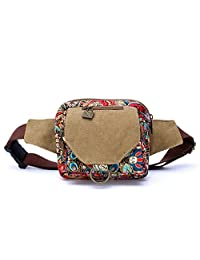 Dopobo Women Waist Bag Sports Bum Bag Phoenix Printed Canvas Fanny Pack Bumbag