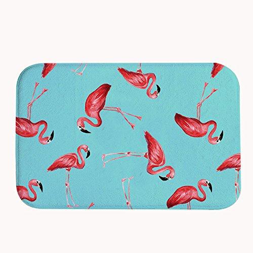 Amazon De Rioengnakg Badematte Mit Flamingo Muster Korallenvlies