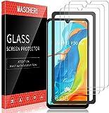 MASCHERI Protector de Pantalla para Huawei P30 Lite Cristal Templado [3 Paquetes] [Marco de posicionamiento] Vidrio…
